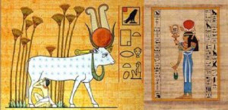 Hathor dio bove egitto
