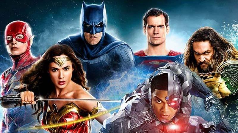 Snyder Cut poster personaggi eroi