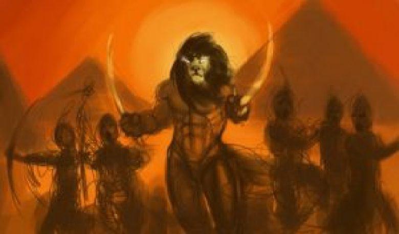 Maahes dio leone Egitto