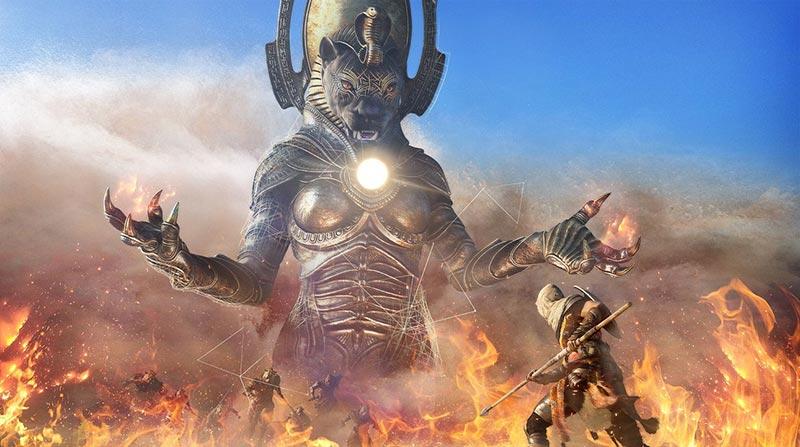 Sekhmet Assassin's Creed Origins boss di gioco