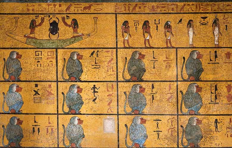Babbuini tomba Tutankhamon