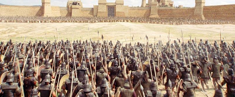 Troy film schieramento battaglia