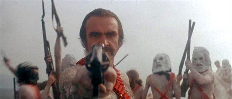 Zardoz Sean Connery con pistola