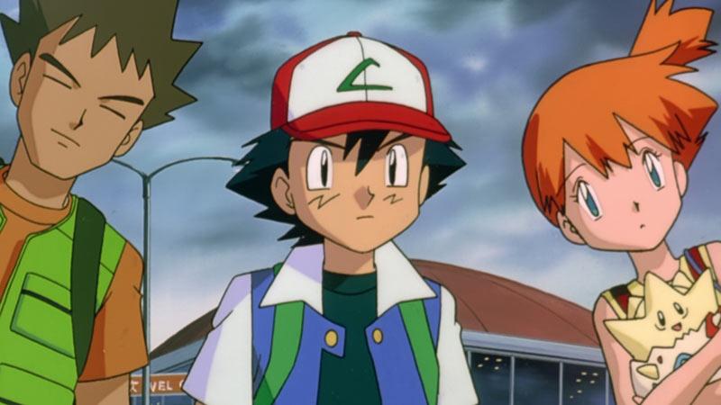 Ash Brock e Misty Pokémon serie