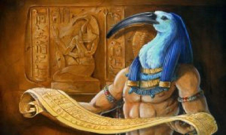 Thoth dio ibis egiziano
