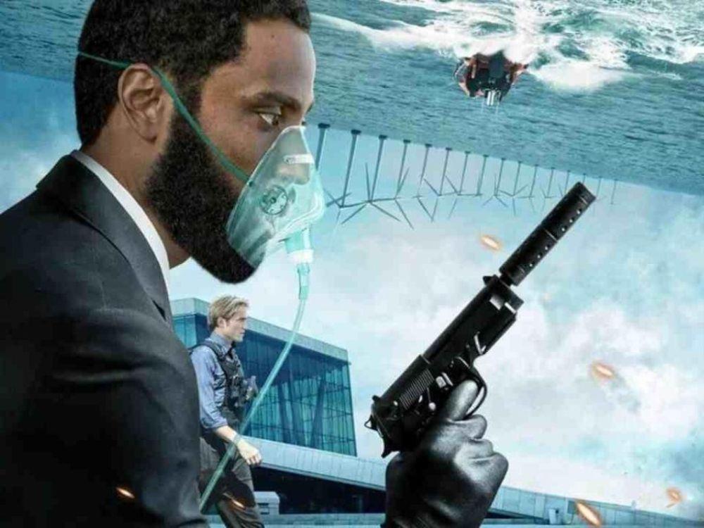 Il poster del film Tenet di Christopher Nolan