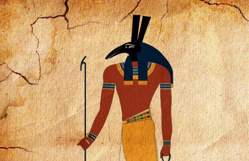 Seth dio egizio con geroglifico