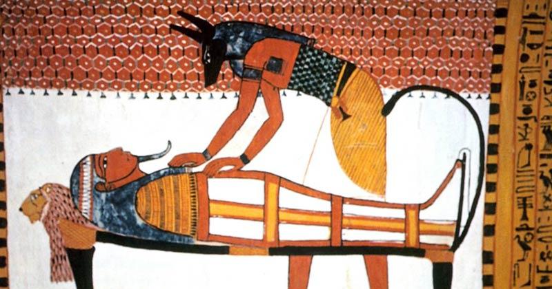 Processo di mummificazione pittura