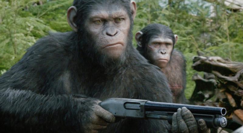 Cesare fucile Pianeta delle Scimmie