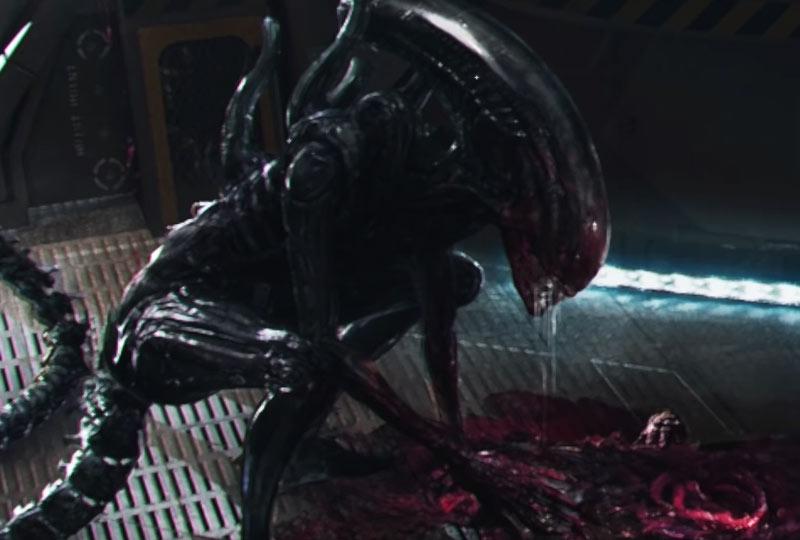 Alien serie tv Xenomorfo cadavere