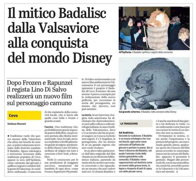 Giornale di Brescia articolo Badalisc