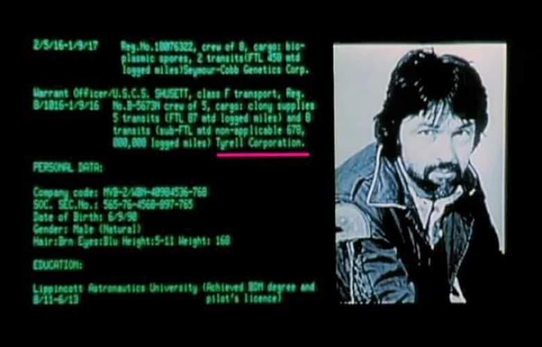 Aliens Tyrell Corporation schermo Dallas