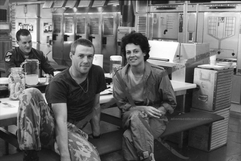 James Remar e Sigourney Weaver in Aliens