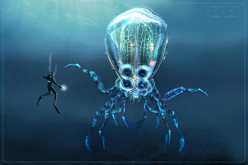 Bestiario Subnautica Crabsquid