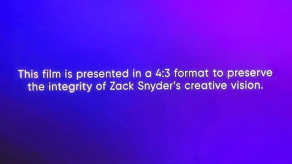 Zack snyder justice league disclaimer