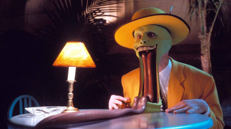 The mask jim carrey lingua
