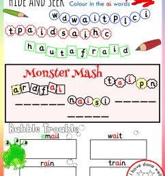 Free Phonics Worksheets \u0026 Activities   Monster Phonics [ 3508 x 2480 Pixel ]