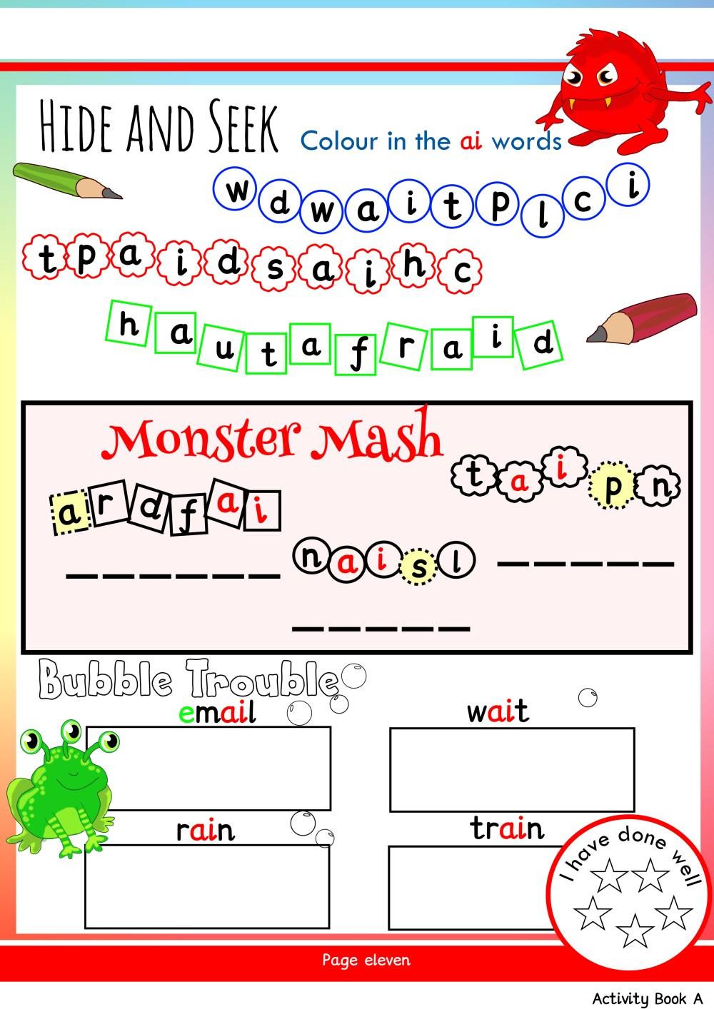 medium resolution of Free Phonics Worksheets \u0026 Activities   Monster Phonics