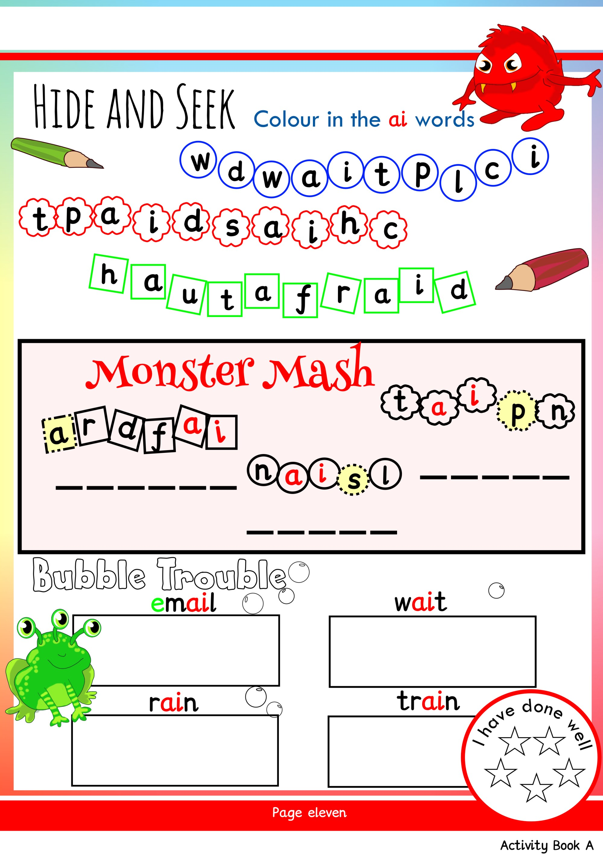 hight resolution of Free Phonics Worksheets \u0026 Activities   Monster Phonics