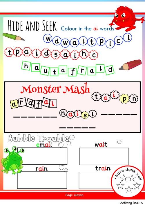 small resolution of Free Phonics Worksheets \u0026 Activities   Monster Phonics