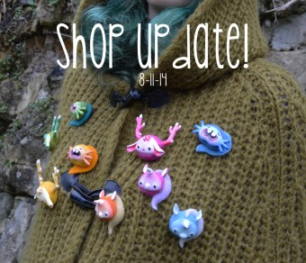 Brooches in the shop!