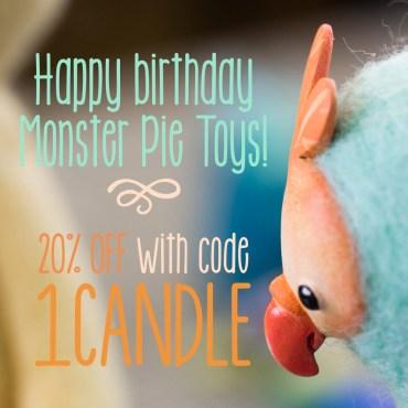 Happy Birthday Monster Pie Toys!