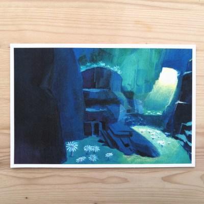 Underwater cave print