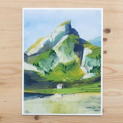 Swiss Mountain print