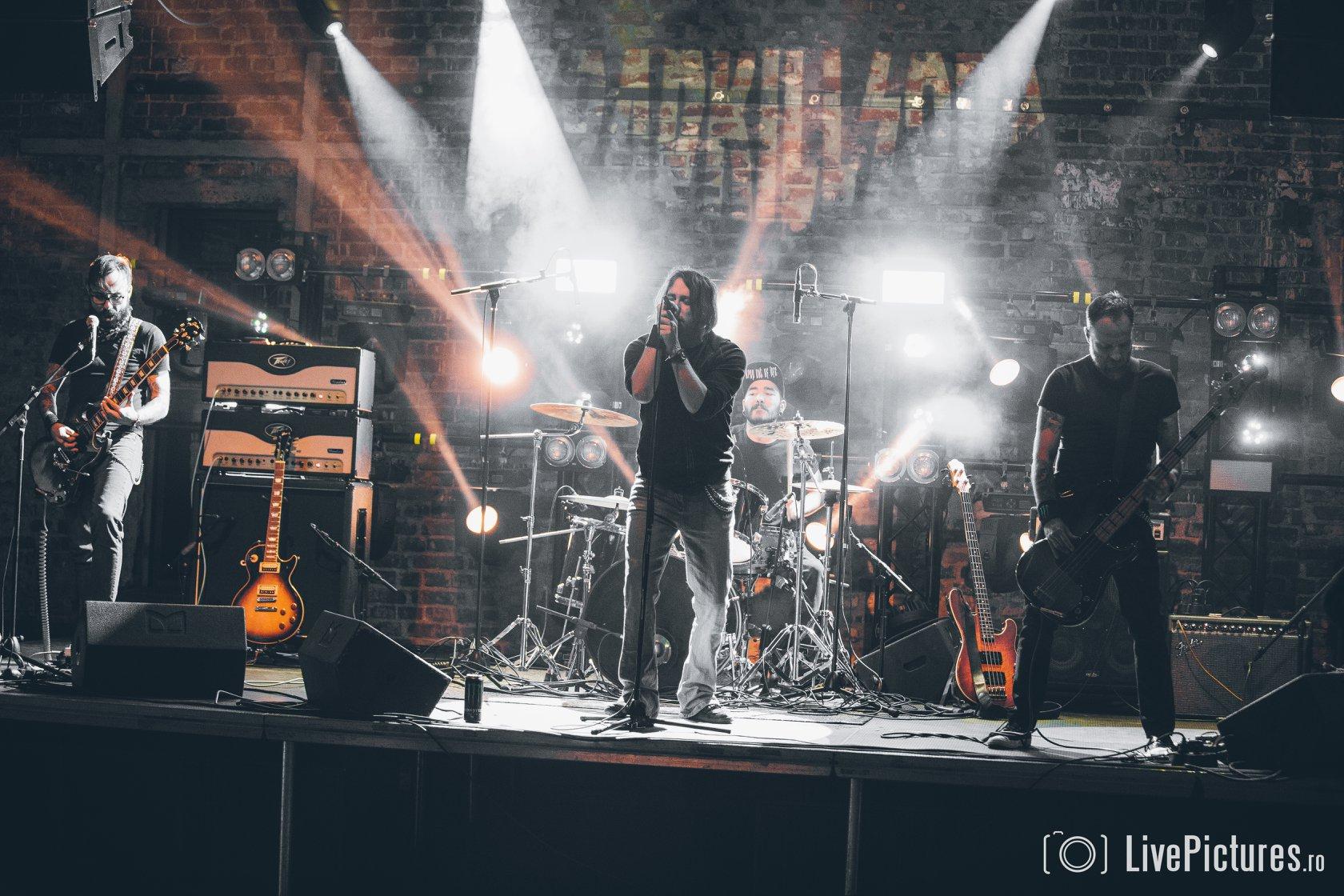 RoadkillSoda performing on stage