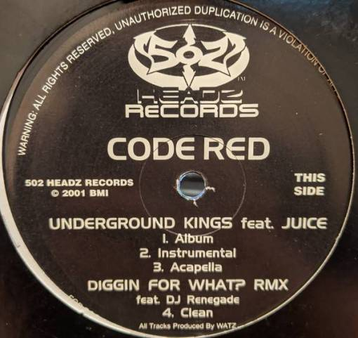 Code Red (12) - Underground Kings / Wrapped /