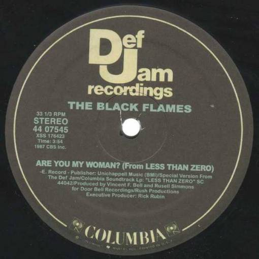 The Black Flames, Public Enemy - Are You My Woman? / Bring the Noise (From Less Than Zero)
