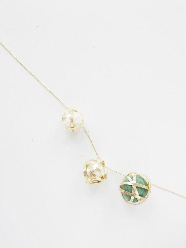 diy wire felt necklace