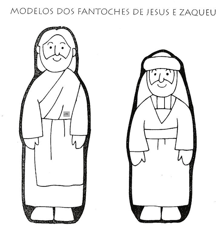 Zacchaeus Puppet Template Printable With Fasterners