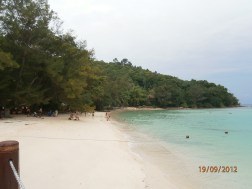 The white fine sand.