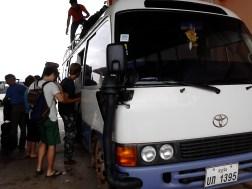 We took minibus to Luang Prabang from Vang Vieng