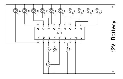 Battery Level Indicator Circuit Diagram, Battery, Free