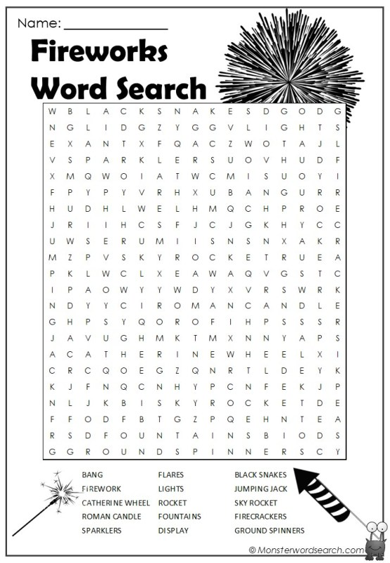 Monster Word Search – Searching for monsters