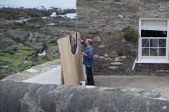 McKean working on the set of Luna.
