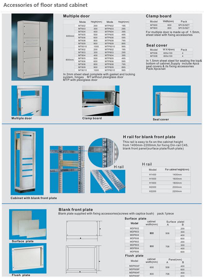 Stål Gulv Placerede Cabinetter 9