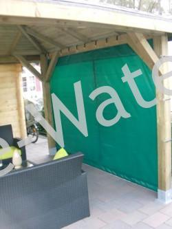 Bisonyl afdekzeil groen tuinscherm