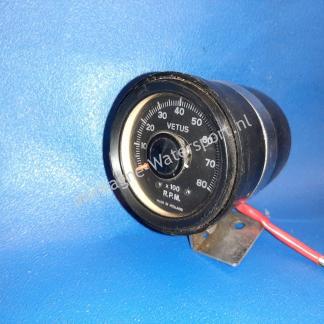 Toerenteller Vetus tot 8000 rpm met beugel