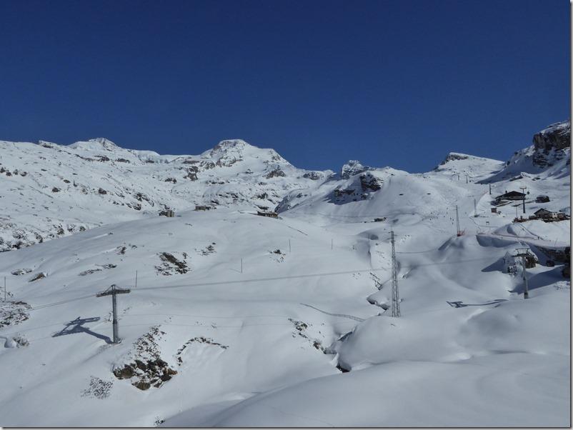 Domaine skiable et Punta Giordani
