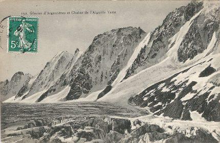 Glacier d'Argentières et Chaine de l'Aiguille Verte