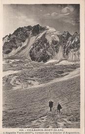 L'Aiguille Verte versant sur le Glacier d'Argentière