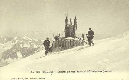 Sommet du Mont-Blanc et Observatoire Janssen