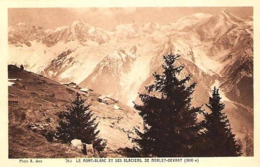 Le Mont-Blanc et ses glaciers