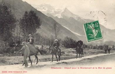 Départ pour le Montanvert