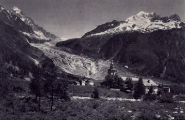 Glacier et église d'Argentière