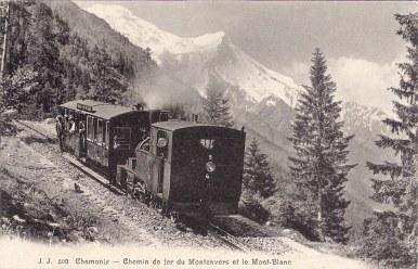 Chemin de fer du Montenvers et le Mont-Blanc