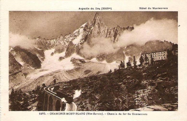 Chemin de fer du Montenvers et l'Aiguille du Dru